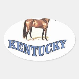 Kentucky horse oval sticker