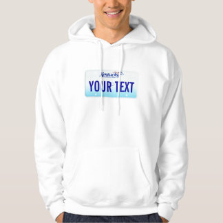 Kentucky license plate hoodie
