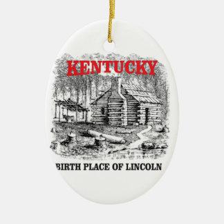 Kentucky Lincolns birthplace Ceramic Ornament