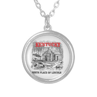 Kentucky Lincolns birthplace Silver Plated Necklace