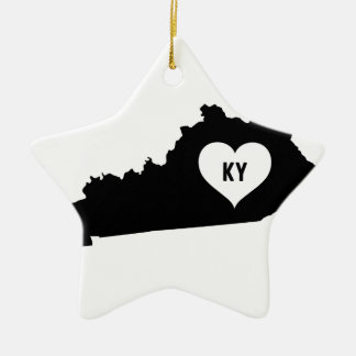 Kentucky Love Ceramic Ornament