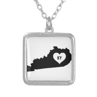 Kentucky Love Silver Plated Necklace