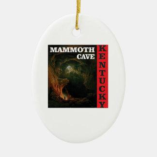 Kentucky mammoth cave ceramic ornament