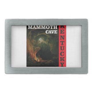 Kentucky mammoth cave rectangular belt buckle