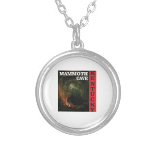 Kentucky mammoth cave silver plated necklace