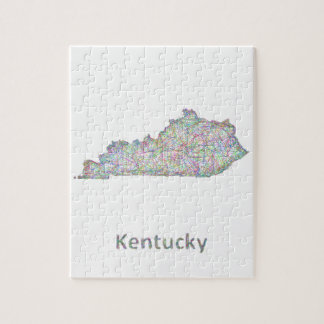 Kentucky map jigsaw puzzle