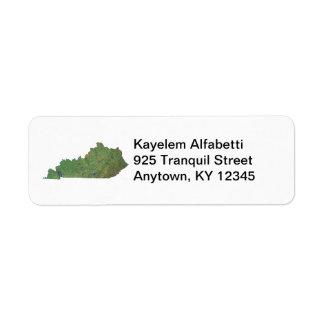 Kentucky Map Return Address Label