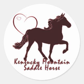 Kentucky Mountain Saddle Horse Hearts Classic Round Sticker
