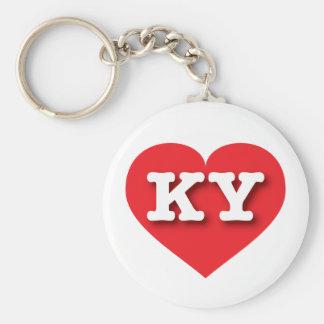 Kentucky Red Heart - Big Love Basic Round Button Keychain
