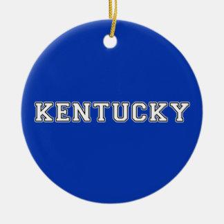 Kentucky Round Ceramic Ornament
