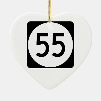 Kentucky Route 55 Ceramic Ornament