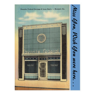 Kentucky, Savings & Loan, Newport Postcard