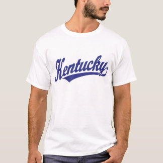 Kentucky script logo in blue T-Shirt