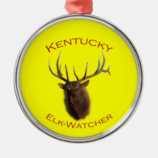Kentucky Silver-Colored Round Ornament