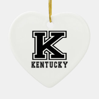 Kentucky State Designs Ceramic Ornament