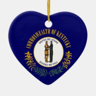 Kentucky State Flag Ceramic Ornament