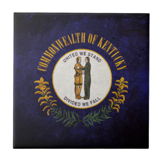 Kentucky state flag tile