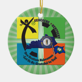 KENTUCKY STATE MOTTO GEOCACHER CERAMIC ORNAMENT