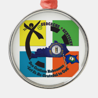KENTUCKY STATE MOTTO GEOCACHER METAL ORNAMENT