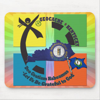 KENTUCKY STATE MOTTO GEOCACHER MOUSE PAD