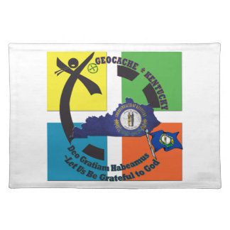 KENTUCKY STATE MOTTO GEOCACHER PLACEMAT