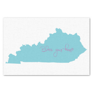 Kentucky state outline tissue paper