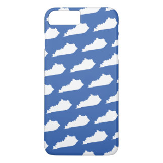 Kentucky State Pattern on Blue Case-Mate iPhone Case