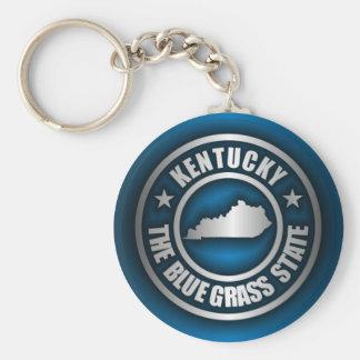 """""""Kentucky Steel (Blue)"""" Basic Round Button Keychain"""