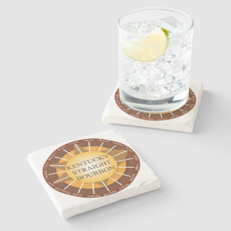 Kentucky Straight Bourbon Whisky Marble Coaster Stone Coaster
