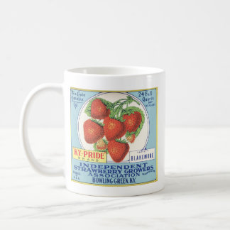Kentucky Strawberries - Vintage Fruit Crate Label Coffee Mug