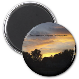 Kentucky Sunsets 2 Inch Round Magnet