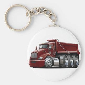 Kenworth T440 Maroon Truck Basic Round Button Keychain