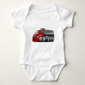 Kenworth T440 Red-Grey Truck Baby Bodysuit