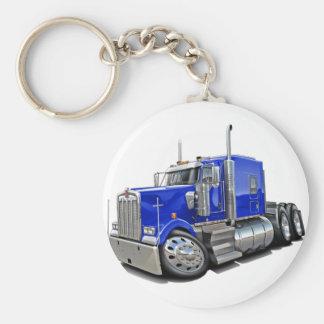 Kenworth w900 Blue Truck Basic Round Button Keychain