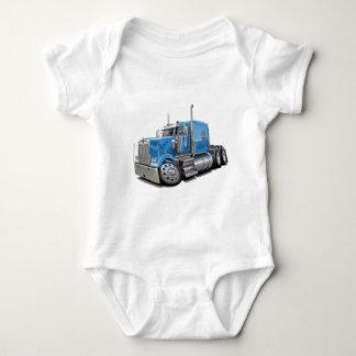Kenworth w900 Lt Blue Truck Baby Bodysuit