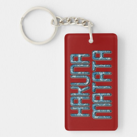 Kenya Beautiful Unleashed Hakuna Matata Design art Single-Sided Rectangular Acrylic Keychain