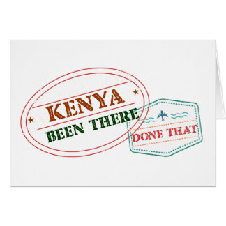 Kenya Been There Done That Card