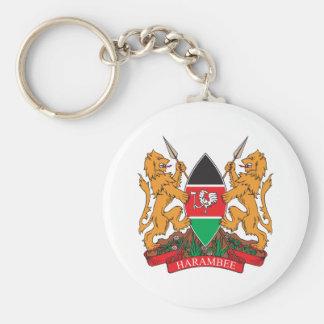Kenya Coat Of Arms Keychain