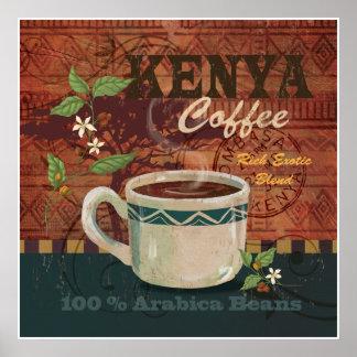 Kenya Coffee Poster