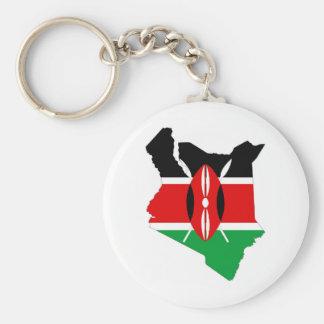 kenya country flag map keychain