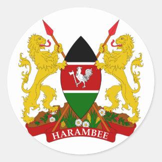kenya emblem classic round sticker