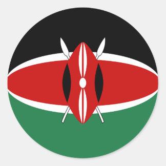 Kenya Fisheye Flag Sticker