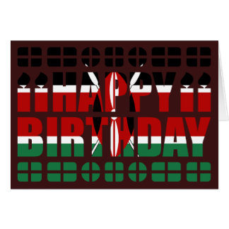 Kenya Flag Birthday Card