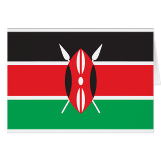 Kenya Flag Card