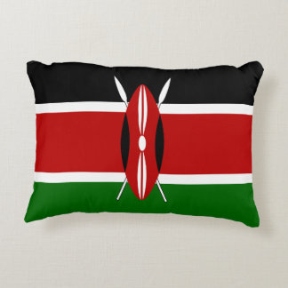 Kenya Flag Decorative Pillow