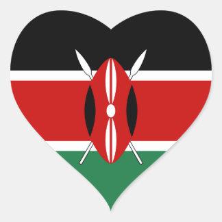 Kenya Flag Heart Sticker