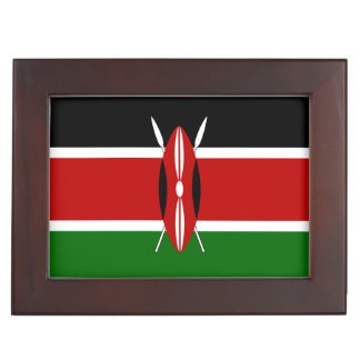 Kenya Flag Keepsake Box