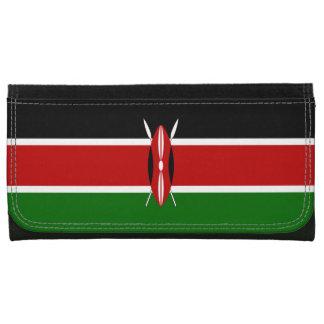 Kenya Flag Leather Wallet For Women
