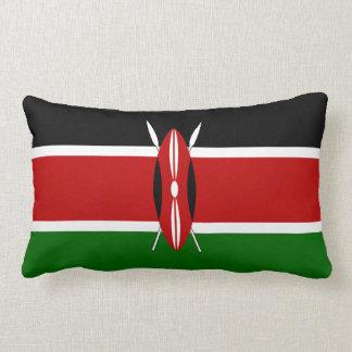 Kenya Flag Lumbar Pillow
