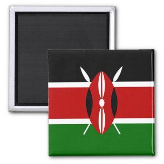 Kenya Flag Magnet Square